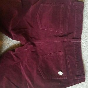 Michael Kors corduroy burgundy/wine pants